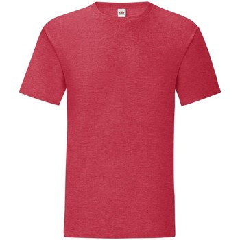 Vêtements Homme T-shirts manches courtes Fruit Of The Loom 61430 Rouge chiné