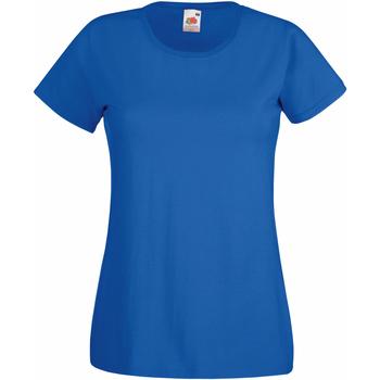 Vêtements Femme T-shirts manches courtes Fruit Of The Loom 61372 Bleu roi
