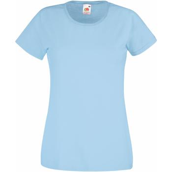 Vêtements Femme T-shirts manches courtes Fruit Of The Loom 61372 Bleu clair