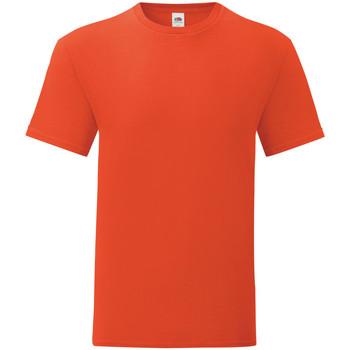 Vêtements Homme T-shirts manches courtes Fruit Of The Loom 61430 Rouge orangé