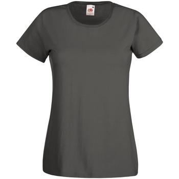 Vêtements Femme T-shirts manches courtes Fruit Of The Loom 61372 Gris foncé