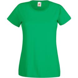 Vêtements Femme T-shirts manches courtes Fruit Of The Loom 61372 Emeraude