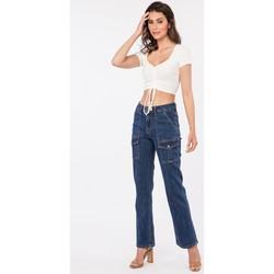 Vêtements Jeans bootcut Toxik3 x Tocada - Jean multi-poches Bleu jean