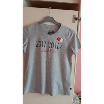 Vêtements Femme T-shirts manches courtes Cache Cache tee shirt gris Gris