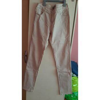 Vêtements Femme Pantalons 5 poches Cache Cache pantalon beige Beige