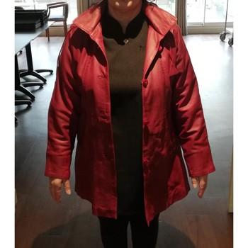 Vêtements Femme Vestes / Blazers Sans marque Veste cuir véritable rouge presque neuf Rouge