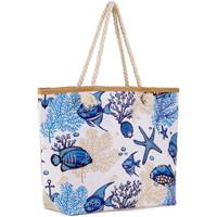 Sacs Femme Sacs porté épaule Baisers Salés Sac de plage Mara Bleu