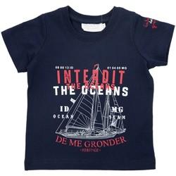 Vêtements Garçon T-shirts & Polos Interdit De Me Gronder NAVIRE Bleu marine