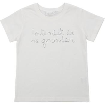 Vêtements Fille T-shirts & Polos Interdit De Me Gronder ROCK Blanc