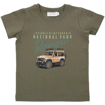 Vêtements Garçon T-shirts & Polos Interdit De Me Gronder SAHARA Vert kaki