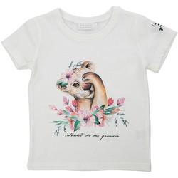 Vêtements Fille T-shirts & Polos Interdit De Me Gronder OURSON Blanc