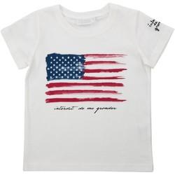 Vêtements Fille T-shirts manches courtes Interdit De Me Gronder USA Blanc