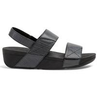 Chaussures Femme Sandales et Nu-pieds FitFlop SANDALE ™ MINA™ GLITZ TEXTURÉ Noir
