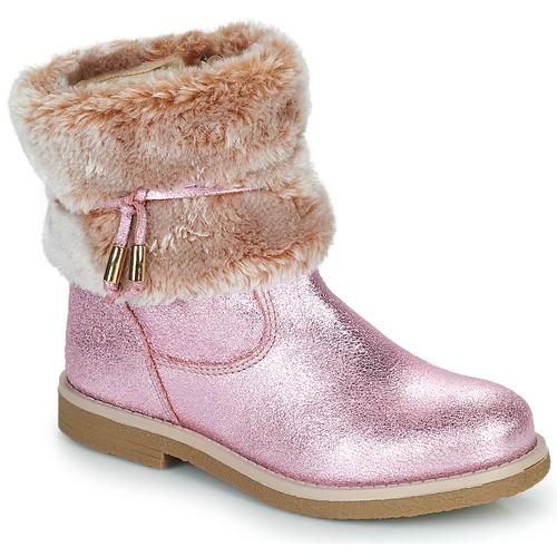 Chaussures Fille Boots Citrouille et Compagnie PAKRETTE Rose irisé