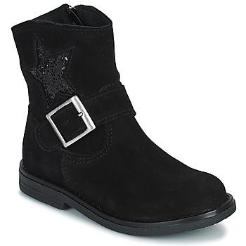 Chaussures Fille Boots Citrouille et Compagnie POUDRE Noir