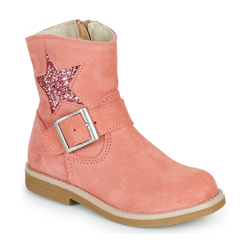 Chaussures Fille Boots Citrouille et Compagnie POUDRE Rose