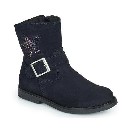 Chaussures Fille Boots Citrouille et Compagnie POUDRE Marine