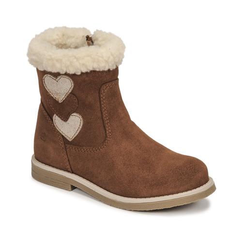Chaussures Fille Bottes ville Citrouille et Compagnie PARAVA Camel
