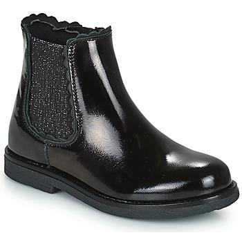 Chaussures Fille Boots Citrouille et Compagnie PRAIRIE Noir
