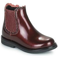Chaussures Fille Boots Citrouille et Compagnie PRAIRIE Bordeaux