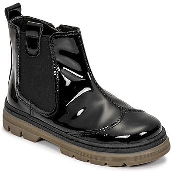 Chaussures Fille Boots Citrouille et Compagnie PATATA Noir vernis
