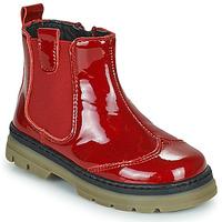 Chaussures Fille Boots Citrouille et Compagnie PATATA Rouge vernis
