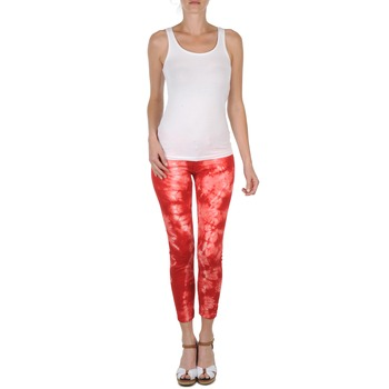 Pantalons 7/8 et 3/4 Eleven Paris DAISY Rouge/Blanc 350x350