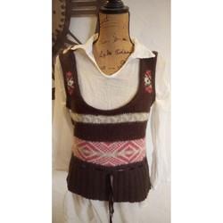 Vêtements Femme Gilets / Cardigans Vintage Petit gilet vintage T 38 Marron