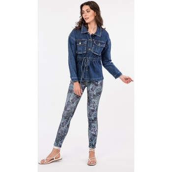 Vêtements Vestes en jean Toxik3 x Tocada - Veste Bleu jean