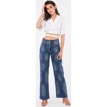 Vêtements Femme Jeans bootcut Toxik3 x Tocada - Jean évasé Bleu jean
