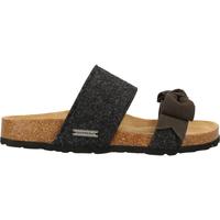 Chaussures Femme Sandales et Nu-pieds Shepherd Pantoufles Schwarz/Grau