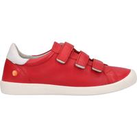 Chaussures Femme Slip ons Softinos Derbies Rot/Weiß