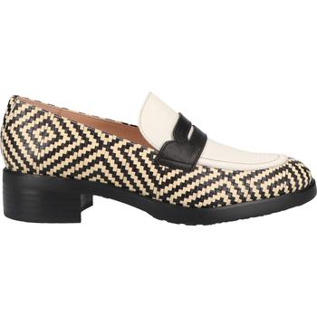 Chaussures Femme Mocassins Wonders Babouche Schwarz/Weiß