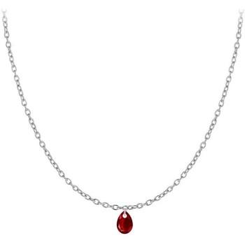Montres & Bijoux Femme Colliers / Sautoirs Sc Crystal B2382-ARGENT-10003-ROUGE Argenté