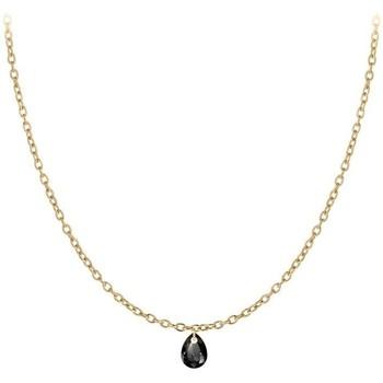 Montres & Bijoux Femme Colliers / Sautoirs Sc Crystal B2382-DORE-10003-NOIR Doré