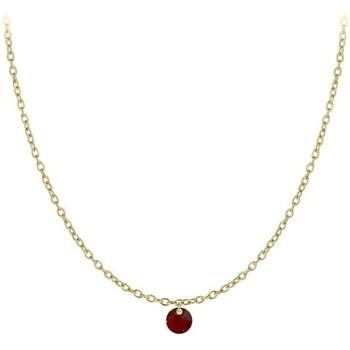 Montres & Bijoux Femme Colliers / Sautoirs Sc Crystal B2382-DORE-10001-ROUGE Doré