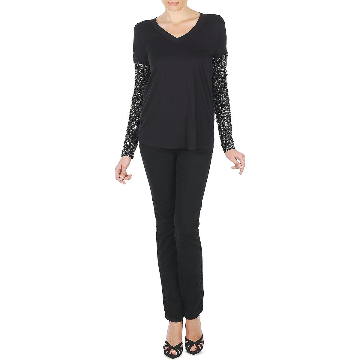 Manoush Tshirt Ml Indian Basic Noir - Livraison Gratuite Vêtements T-shirts Manches Longues Femme 151,20 €