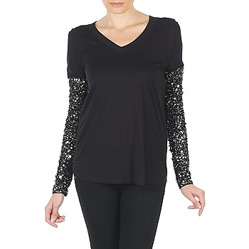 Vêtements Femme T-shirts manches longues Manoush TSHIRT ML INDIAN BASIC Noir