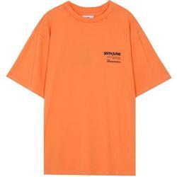 Vêtements Homme T-shirts manches courtes Sixth June T-shirt  barcode orange