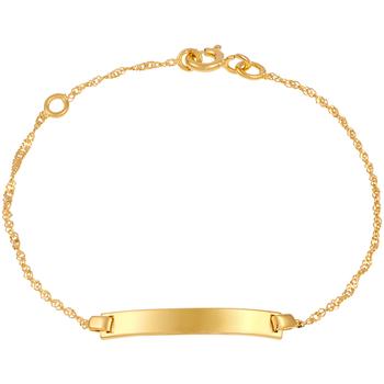 Montres & Bijoux Femme Bracelets Cleor Gourmette  en Or 375/1000 Jaune Jaune