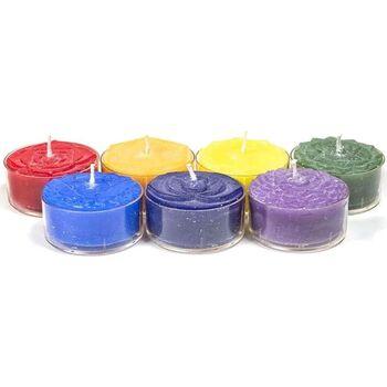 Maison & Déco Bougies, diffuseurs Zen Et Ethnique Set cadeau Chakras avec 7 Bougies chauffe-plat parfumées Multicolore