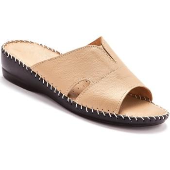 Chaussures Femme Mules Pediconfort Mules extra-larges cuir à aérosemelle beige