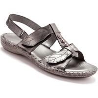 Chaussures Femme Sandales et Nu-pieds Pediconfort Sandales ultra souples en cuir grismtallis