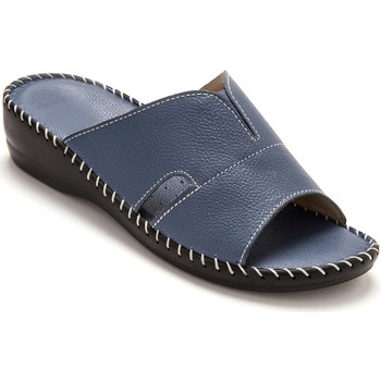 Chaussures Femme Mules Pediconfort Mules extra-larges cuir à aérosemelle bleu