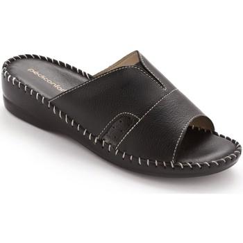 Chaussures Femme Mules Pediconfort Mules extra-larges cuir à aérosemelle noir
