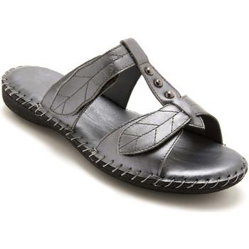 Chaussures Femme Mules Pediconfort Mules ouverture totale cuir grismtallis
