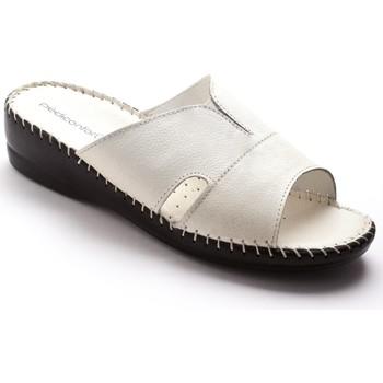 Chaussures Femme Mules Pediconfort Mules extra-larges cuir à aérosemelle blanc