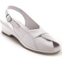 Chaussures Femme Sandales et Nu-pieds Pediconfort Sandales en cuir extra-larges blanc