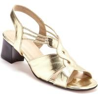 Chaussures Femme Sandales et Nu-pieds Pediconfort Sandales extra larges en cuir dor
