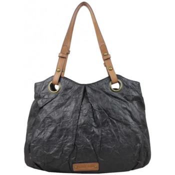 Sacs Femme Sacs porté épaule Patrick Blanc Sac épaule  aspect froissé délavé noir Multicolor